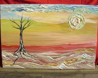 Desert Hope - Original Acrylic Painting - Landscape Canvas - 24 x 36
