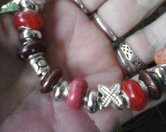 Taurus astrological sign,  Euro style bracelet