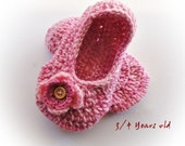 Buy Adult  Pink Crochet  Slippers