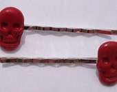 Red Skull Bobby Pins