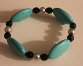 Turquoise Black and Silver Bracelet