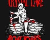 Crystal Lake Boat Tours T-Shirt Funny Retro Cult Horror Humor Tee Shirt Tshirt Mens Womens S-3XL