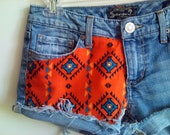 Customize Studded Tribal High Waisted Shorts Free Shipping