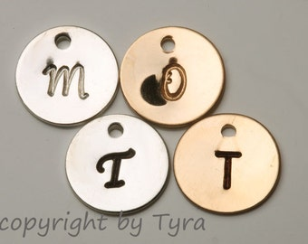 For tydesign Jewelry buyer ONLY,will not be sold separately.Add Gold filled initial letter disc charm