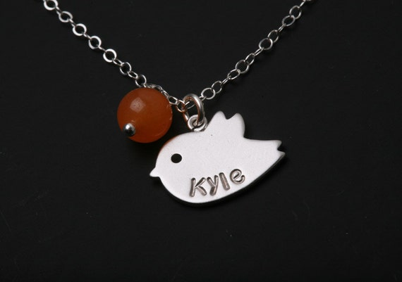 Bird initial necklace,Custom birthstone and initial,Mother Jewelry,Parent initial,Grandma Gift,Bridesmaid gifts,Wedding Jewelry