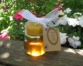 Honey Wedding Favors: Wildflower Honey and Beeswax Candle (Includes personalized tags)
