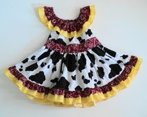 Custom Boutique My Original Cowgirl dress Only  Sizes 0-6mo, 6-12mo, 12-18mo, 18-24mo, 2t, 3t, 4t, 5/6, 7/8