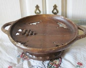 Wooden Music box Bowl  Albert Schile Interiaken Wood Carving Made In Switzerland :)