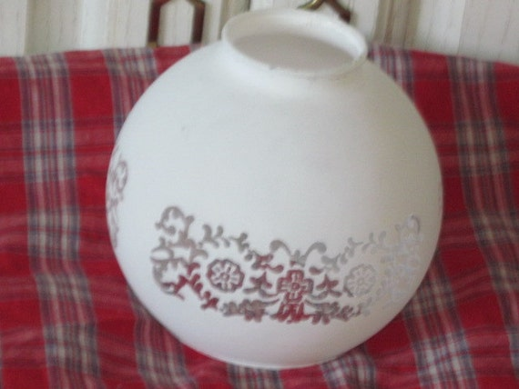 White Frosted Small Lamp Shades Flowers Pretty Art Deco / / NOT INCLUDED iN Clearance SALE