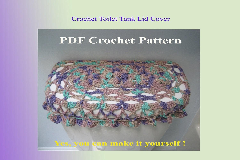 Crochet Pattern Toilet Tank Lid Cover 5vc2012