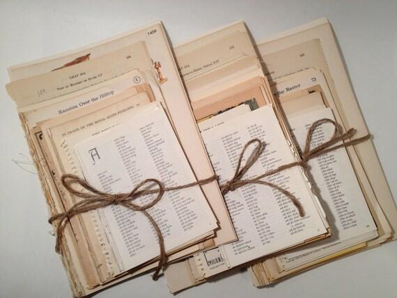 75 Vintage Book Pages Ephemera Pack, Vintage Paper Pack Ephemera, Vintage Book Pages for Altered Art, Collage, Scrapbooking