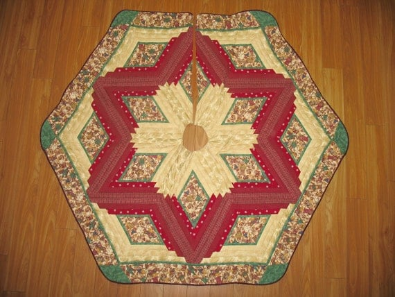 Christmas Tree Skirt Quilt - Joyful Angels 103