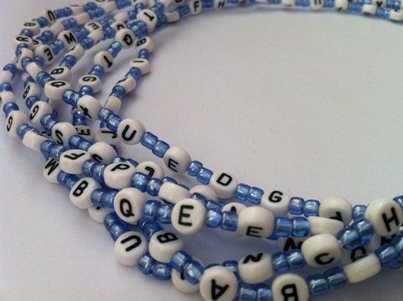 Alphabet Handmade African Waist Bead