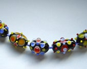 SALE ,SRA handmade colorful, phantasy glass bead , made by me in my home studio