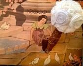 Snow White Bridal Bouquet