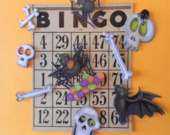 Halloween Scrap Kit, Altered Art, Gigantic Halloween Party Supply Packet, 200 Plus Piece, Shadow Box Kit