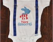 Future Democrat Bodysuit w/ suspenders