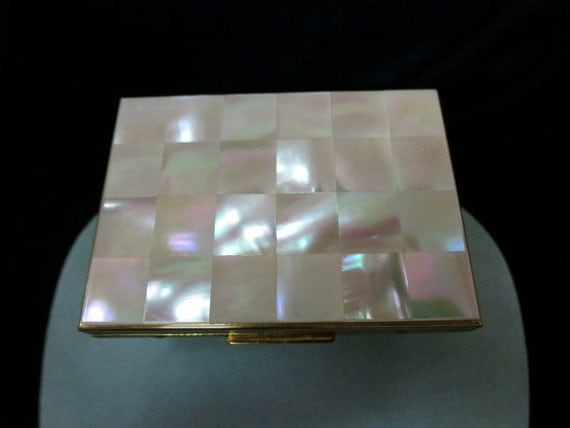 Vintage Mother Of Pearl Inlaid Case