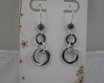 Endless Circle Chainmaille Earrings