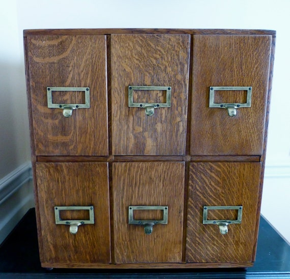 Reserved for B- Oversized Card Catalog File Cabinet- Vintage Quarter Sawn Oak Drawers with Dovetail Joinery