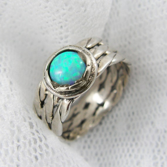 Items Similar To Opal Ring. Exquisite Braided Opal