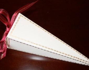 SALE! - Wedding Favor Boxes - Cone Favor Boxes - Handmade paper - Unique Favor Boxes - SALE 0.69 Each - Minimum Order of 50 BOXES for Sale