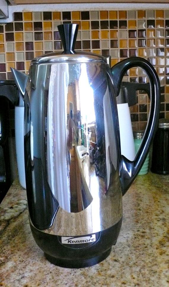 Vintage Kenmore Percolator Coffee Pot Maker 12 Cup