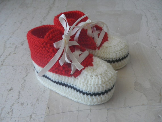All Star Knitted Baby booties Knitted baby shoes Baby by ...