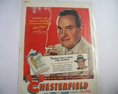 Vintage 1949 Bob Hope Chesterfield Cigarette AD