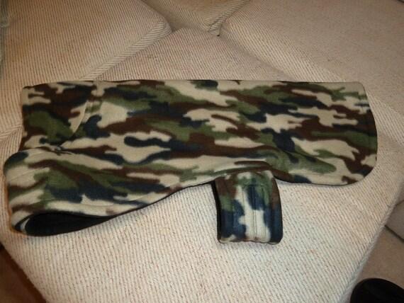 Camo/Military Style Fleece Dog Coat (Large)