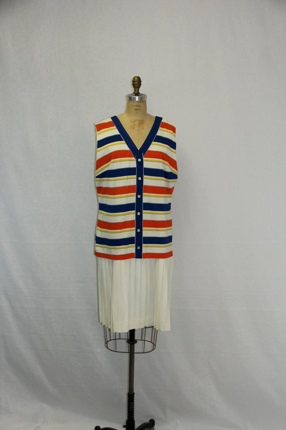 XXL Vintage Dress - 1960s does 1920s Drop Waist Garconne