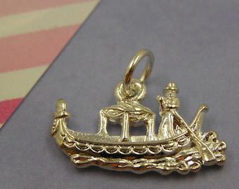081 Silver Venice Italy Gondola Boat Charm