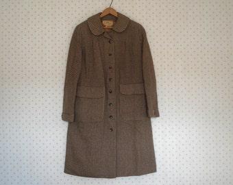 Beautiful tweed coat - Sutton Tweed - Large
