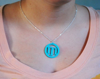 Funky Circle Initial Necklace