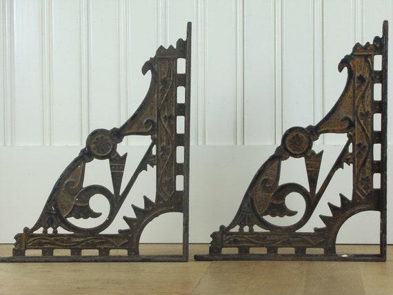 Victorian Shelf Brackets Metal Brackets Decorative By