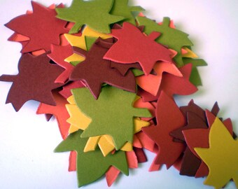 Die Cut Fall Leaves - Small
