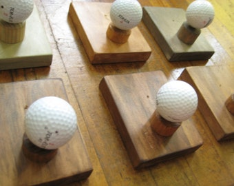 Single Golf Ball Coat Rack