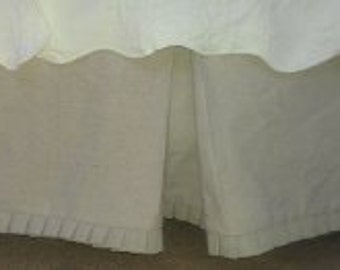 French Pleated Tailored Bedskirt-ANY SIZE-T, F, Q, K