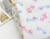 Summer Fabric Polkadot Giraffe Cotton Ripple 1 Yard 22985