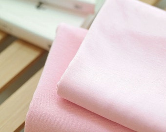 Solid Cotton Jersey or Ribbing Knit Fabric for Binding Necklines, Cuffs, Armholes - Light Pink - By the Yard