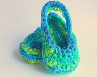 Infant Girl  Booties  3 4 5 6 Months Old Baby Boy Sandals Blue Green Yellow Handmade Summer Clothing