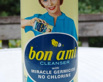 Unopened Vintage Advertising 1940-1950 Housewife Great Graphics Bon Ami Kitchen Cleanser Retro