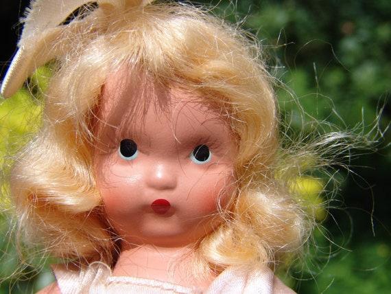 Vintage 1940 Hand Painted Bisque Storybook Doll