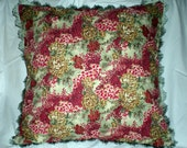 Christmas Pillow Berry Floral Pine Holiday Cushion 20x20