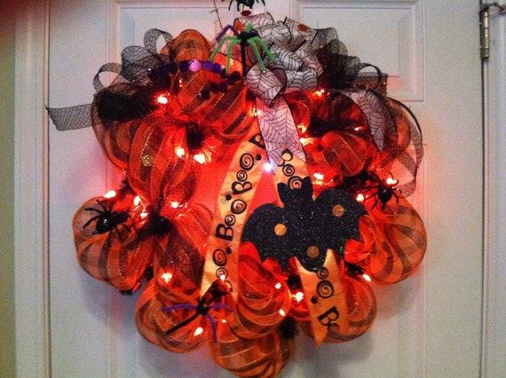 Prelit halloween wreath