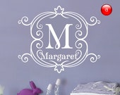 Wall murals, Wall monogram decals, Kids room ideas - M1