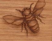 Original Bee-Acrylic on Oak Veneer
