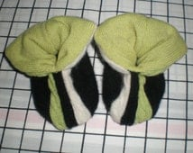 Cashmere slippers PEAPOD baby booties double thick 9-18 months