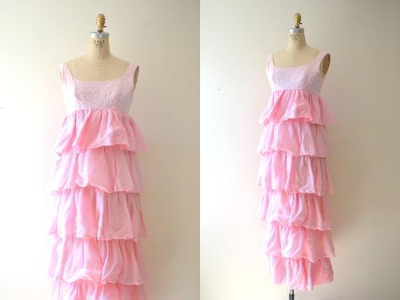 SALE 60s dress / vintage 1970s dresses / pink dress