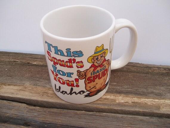 Vintage Idaho Spud Coffee Mug - This Spuds for You Idaho